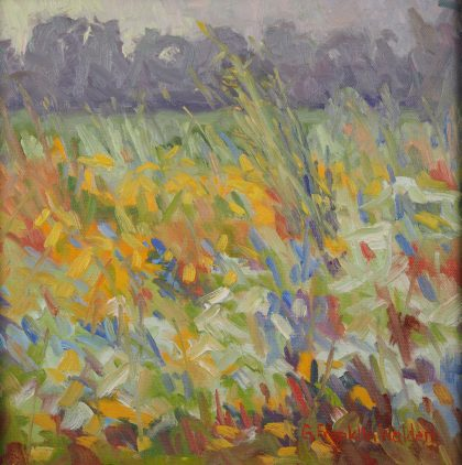 """Prairie Flowers - 12"""" square oil painting - SOLD"""